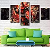 RENHAN 5 pièces Imprimé Décoration Murale Tableau – Abstract Pictures – Spiderman Peinture Murale – Home Salon Art Poster Mural 40x60x2+40x80x2+40x100x1 b