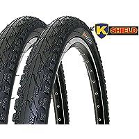 Kenda Uni Kahn Fahrradreifen-Set, Schwarz, 26 x 1.75 Zoll