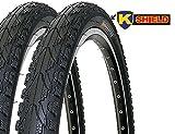 2 x Fahrradreifen Kenda Pannensicher 26 Zoll 26x1.75 47-559 K935 K-Shield inklusive 2 x 26' Schlauch mit Dunlopventil
