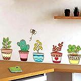 Gleecare Wandaufkleber Topfpflanzen Blume entferne das Haus Dekoration Wohnzimmer Schlafzimmer Deko Aufkleber kann wasserdicht entfernen