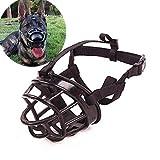 JWPC Bozal Ajustable antimordiscos para Perro, Suave Gel de sílice, Transpirable, para Seguridad, para Mascotas y Cachorros Que muerden/ladran/mastican,Negro 4