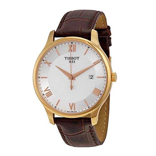 Tissot Herren-Armbanduhr 42mm Armband Leder Braun Quarz Analog T0636103603800