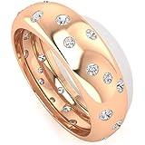 Anillo de boda con certificado de moissanita de 0,50 ct, declaración de mujer, anillo de eternidad, DE-VS1, claridad de color