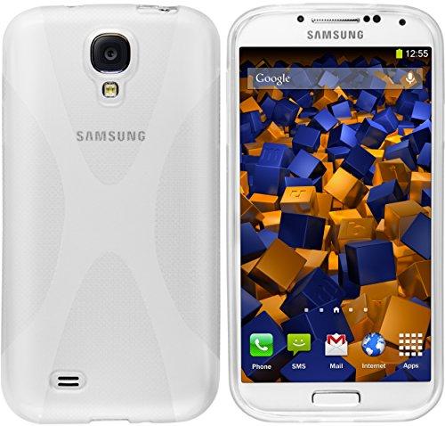mumbi X-TPU Schutzhülle Samsung Galaxy S4 Hülle transparent weiss