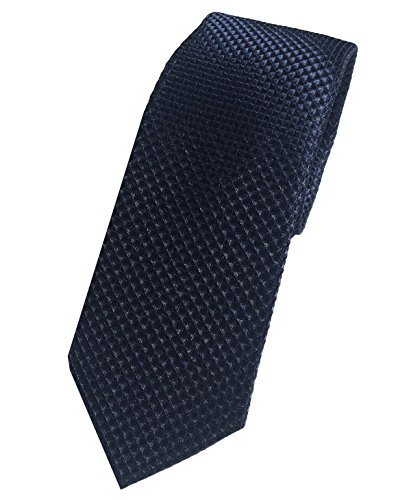 Blaue Krawatte Herren uni, ein edle Diamanten Struktur Muster, handgefertigt. Pietro Baldini