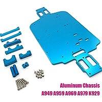 Ocamo Chasis de Coche de Juguete de Metal para Wltoys 1/18 A949 A959 A969 A979 K929 A959-B A969-B A979-B K929-B Coche RC