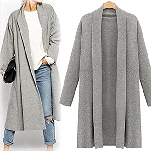 Femme Cardigan, Feixiang exclusif customisation Fashion ouvert avant Trench Long Cape vestes Manteau Cascade Cardigan XXXXXL