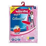 Vileda Style - Funda de planchar adaptable a todos los tamaños, Colores Rosa y Verde