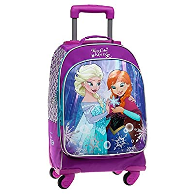 Disney Frozen Keep Calm Mochila Escolar, 29.57 Litros, Color Azul de Disney