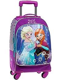 Disney Frozen Keep Calm Mochila Escolar, 29.57 Litros, Color Azul