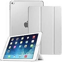 Fintie iPad Air 2 Funda - Soporte Plegable Smart Case Funda Carcasa con Stand Función y Auto-Sueño / Estela para Apple iPad Air 2 (iPad 6th Generación 2014 Versión) 9.7 Inch iOS Tableta, Plata