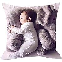"""artistic9(TM) suave peluche manta funda de almohada, diseño de elefante bebé almohada Cafe sofá cojín, Gris, 15.7x15.7"""""""