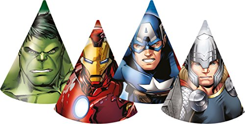 Marvel Avengers Assemble Party Hüte, 6 Stück (Marvels Avengers Party Supplies)