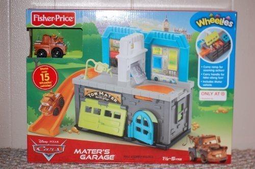 Disney Pixar Cars Wheelies Playset - Mater's Garage by Wheelies (Cars Fisher Price Disney)