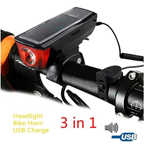 GUANEN FahrradlichtLicht USB Aufladbar, LED Fahrradbeleuchtung, Fahrradlampe Rücklicht Und Frontlicht Regenfest Für Mountainbike, Ipx5 Wasserdicht, Weitwinkelsicht Für Radfahren,Camping