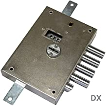 Cerradura de sobreponer a triple doble Mapa para puertas blindadas entrada 60 mm dierre – Derecha