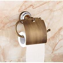 SQL Cobre antiguo europeo porta papel higiénico Portarollo de baño y aseo bandeja toalla estante estilo retro Portarollo de baño