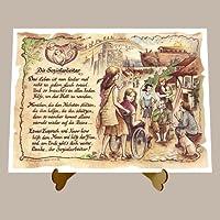 Geschenk Sozialarbeiter Sozialassistent Gedicht Zeichnung Color 20 x 15 cm mit Aufsteller