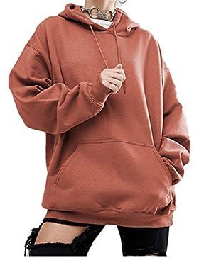 Sudadera Mujer YOGLY Sudaderas con Capucha Talla Grande, Sudadera Encapuchado Suelta Manga Larga de Mujer Sweatshirt...