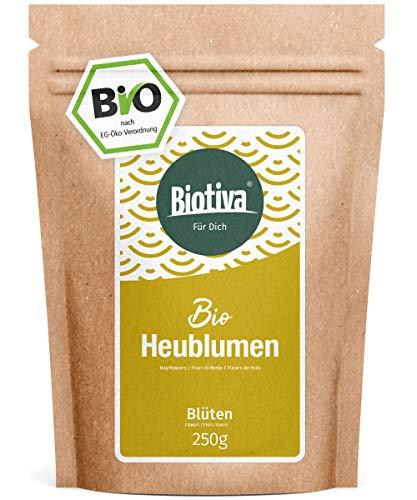 Bio-Heublumen (250g) - von Hebammen empfohlen - Lockerung und Entspannung - Anwendung bei rheumatischen Problemen - 100% Bio-Qualität -