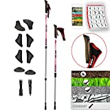 ATTRAC Nordic Walking Stöcke Lady Premium Edition I Teleskop superleicht...