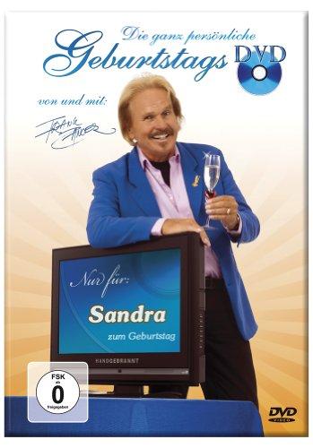 Die ganz persönliche Geburtstags-DVD von Frank Zander – DIE WELTNEUHEIT - Jeder Vorname ist möglich und wird auf die DVD gedruckt und 7 x im Lied gesungen sowie grafisch animiert!