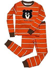 LazyOne Chicos Bearly Tame Niño Pijama Set Manga Larga
