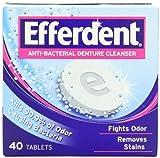 Efferdent Anti Bacterial Denture Cleanse...