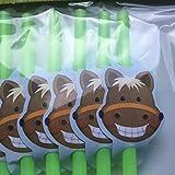 12 Trinkhalme * SÜSSES PONY * für Kindergeburtstag oder Mottoparty // Straws Pferde Horse