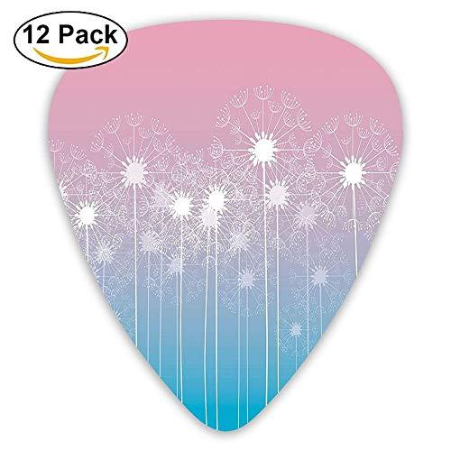 Delicate Dandelions Fresh Spring Garden Pollens Meadow Nature Sunset Guitar Picks 12/Pack Set -