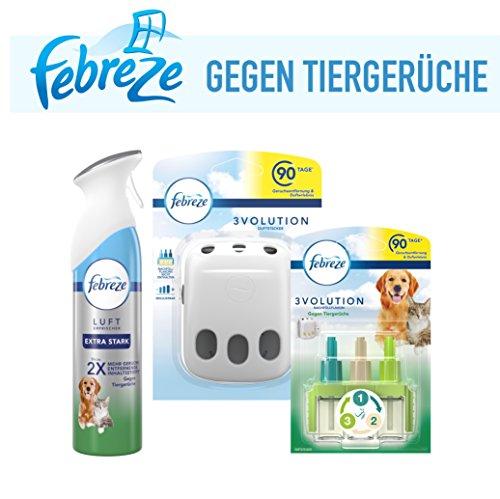 Febreze Set Lufterfrischer Extra Stark +3Volution Duftstecker Gegen Tiergerüche