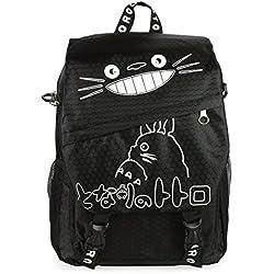 CoolChange Sac à Dos / Sac bandoulière Noir de Totoro