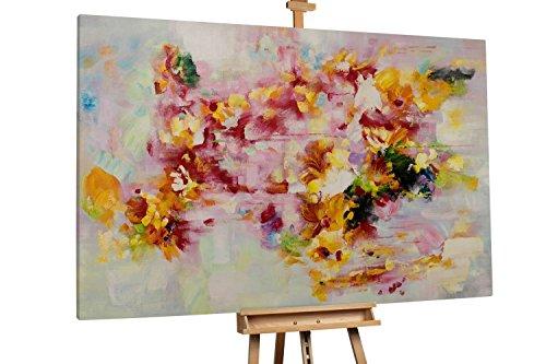 'Kreatur aus Feuer' 180x120cm | Abstrakte Deko Tupfer Bunt | Modernes Kunst Ölbild