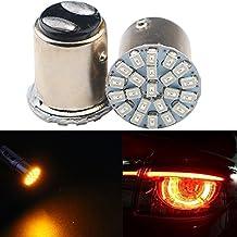 Grandview 1157BAY15d Weddge socket lampadine LED super luminoso 1206chip LED auto lampadina SMD backup segnale lampeggiante stop freno coda lampadine DC 12V rosso (confezione da 2)