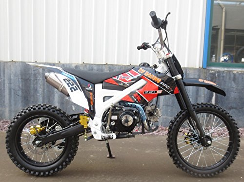 Preisvergleich Produktbild 125ccm Dirtbike Pitbike 4 Takt 4 Gang Manuell 17/14 Zoll Schwarz 125cc Motor Cross Bike