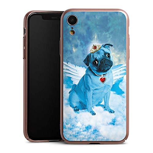 DeinDesign Hülle kompatibel mit Apple iPhone Xr Handyhülle Case Mops Blue  Angel Dog Hund