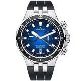 Edox Delfin The Original Herren-Armbanduhr 43mm Armband Kautschuk Schwarz Schweizer Quarz 10109 3CA BUIN