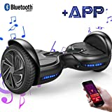 EVERCROSS Hoverboard Diablo 6,5' Smart Skateboard Électrique Bluetooth Scooter Certifié CE de Boutique GyroGeek (Black)