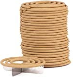 50x Räucherspiralen 50mm aus 100% Sandelholz inklusive Spiralständer