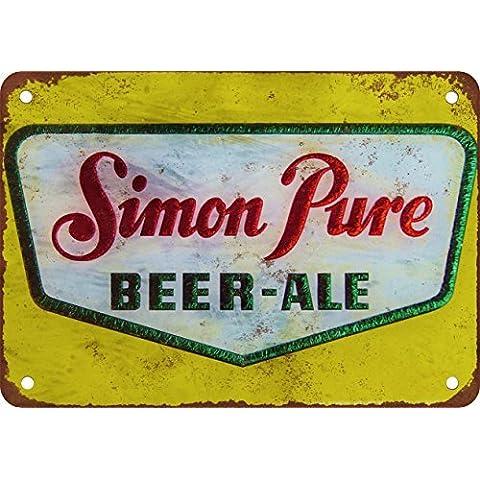 SIMON Pure birra stile vintage Riproduzione in metallo Tin Sign 30,5x 45,7cm - Bud Light Neon