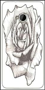 Snoogg Hand Drawn Rose Vector Illustration Designer Protective Back Case Cover For HTC M7