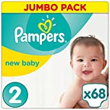 Pampers - New Baby - Couches Taille 2 (3-6 kg) - Jumbo Pack (x68 couches)