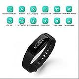 Smart pulseras compatible con Android y iOS, Smart Fitness Brazalete, brazalete, pulsera deporte podómetro reloj Monitor de presión arterial, Touch Protector de pulseras
