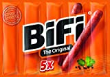 BiFi Original - Herzhafter Salami Fleischsnack - Geräucherte Mini Wurst als Snack to go - 5er Pack (5 x 25 g)