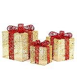 SLIANG Weihnachtsgeschenkkasten außen Weihnachtsbaumschmuckkastengeschenkbeutel PVC-Geschenkdekoration (Farbe : Gelb)