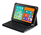Navitech cuir pliant Folio Cover Case & Stand avec clavier amovible Bluetooth Pour Sony Xperia Z3 8-inch Tablet Compact
