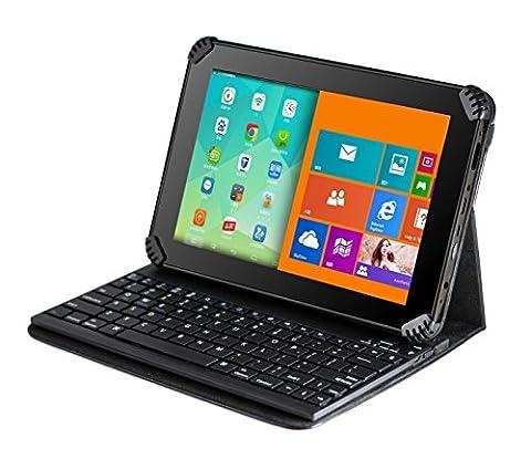 Navitech housse étui avec clavier Bluetooth amovible pour Samsung Galaxy Tab 4 SM-T230 8GB 7
