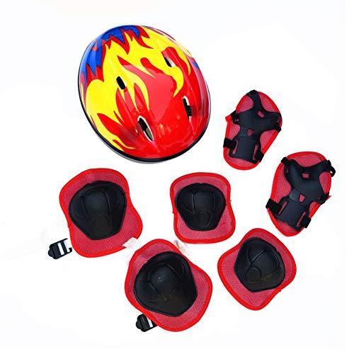 Hzb821zhup Fahrradhelm für Kinder, verstellbar, 7-teilig Einheitsgröße rot