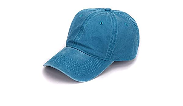 d2abd9e0b1b Buy Plain dyed sand washed 100% soft cotton cap blank baseball caps (blue)  Online at Low Prices in India - Amazon.in