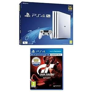 Sony PlayStation 4 (1TB) Pro in White + Gran Turismo Sport